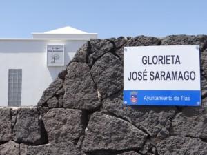 Glorieta José Saramago - placa